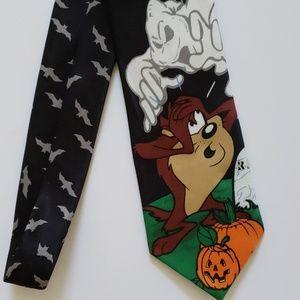 Looney Tunes Halloween Tie
